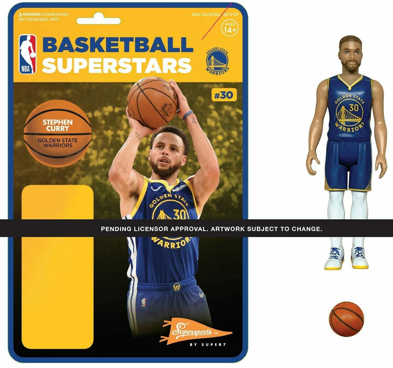 PRE-ORDER NBA REACTION FIGURE - STEPH CURRY (WARRIORS)