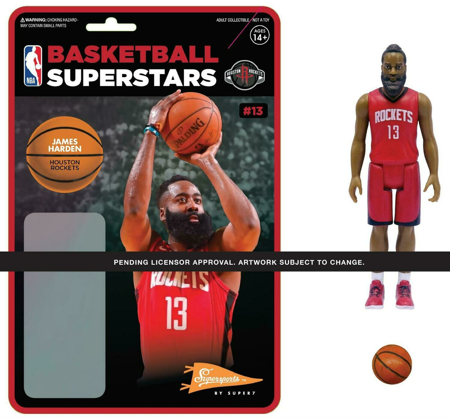 PRE-ORDER NBA REACTION FIGURE - JAMES HARDEN (ROCKETS)
