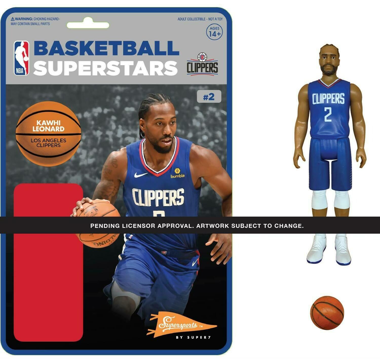 PRE-ORDER NBA REACTION FIGURE - KAWHI LEONARD (CLIPPERS)