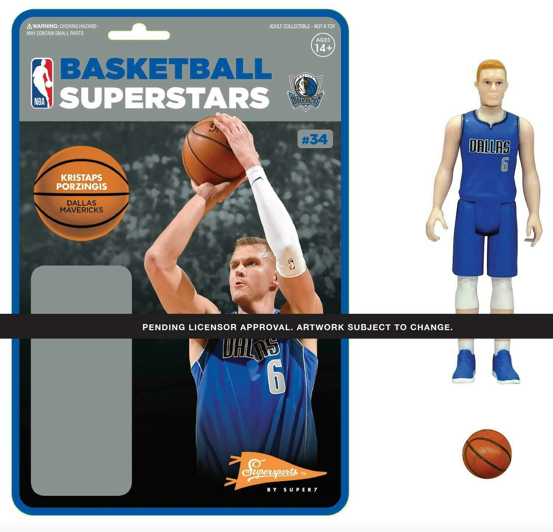 PRE-ORDER NBA REACTION FIGURE - KRISTAPS PORZINGIS (MAVERICKS)