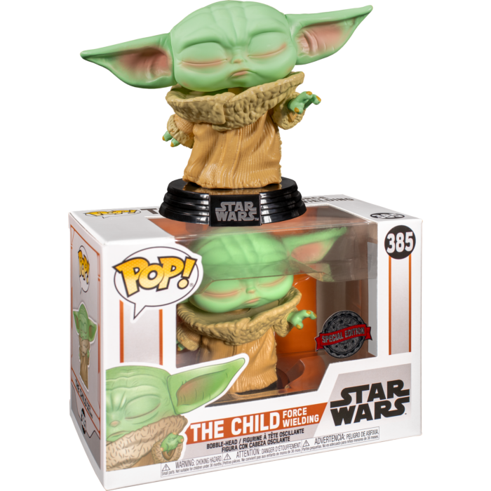 Star Wars : Mandalorian The Child Force Wielding (Eyes Closed) Exclusive Pop! Vinyl Figure