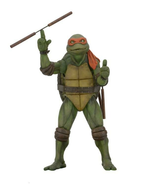 PRE-ORDER Neca TMNT [1990 Movie] - ¼ Scale Figure - Michelangelo (RESTOCK 2021)