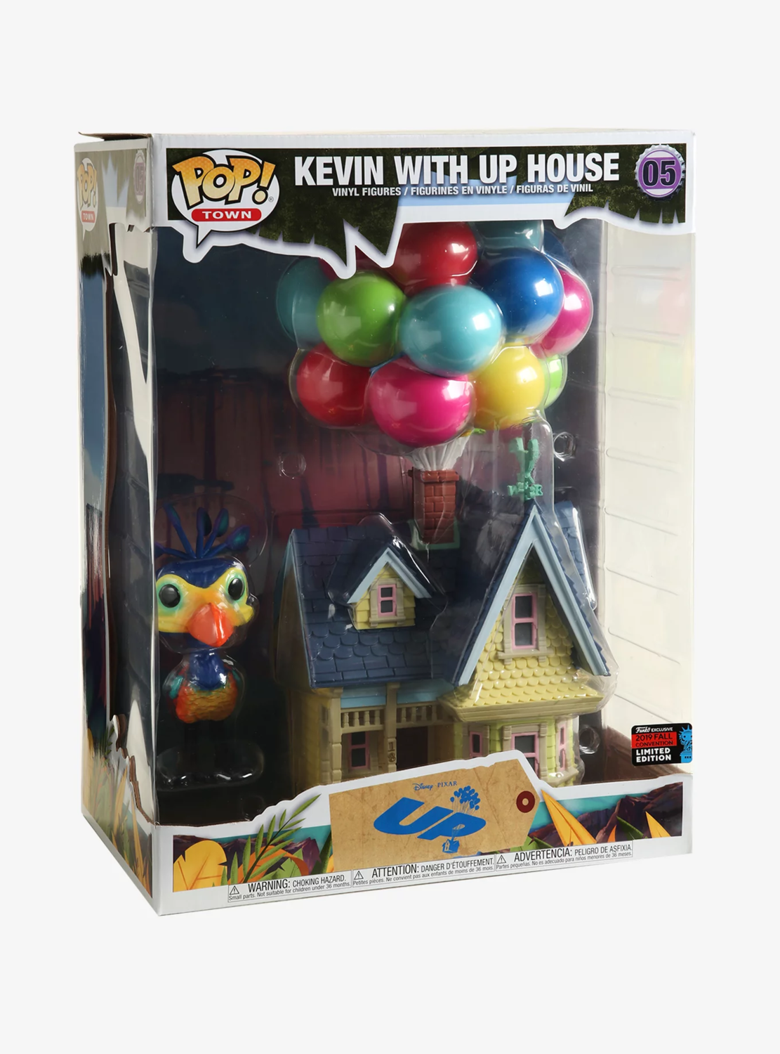 Funko Disney Pixar Up Kevin with Up House Pop! Town Vinyl Figure