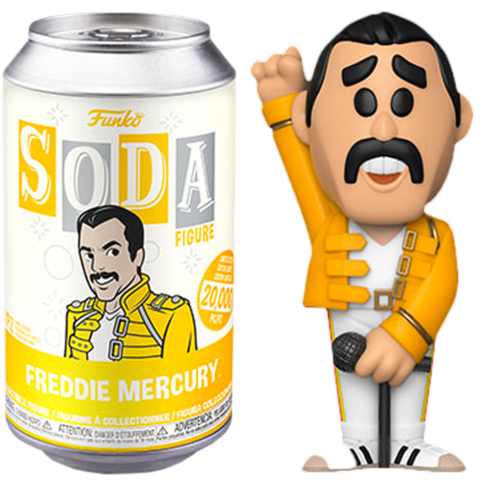 Funko Queen - Freddie Mercury Vinyl SODA Figure in Collector Can