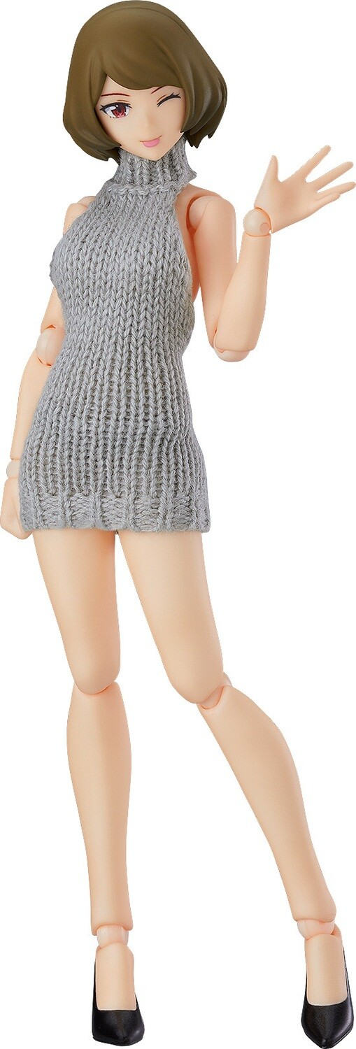 PRE-ORDER Good Smile figma Female Body (Chiaki) with Backless Sweater Outfit