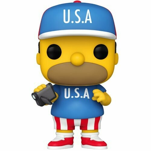 Simpsons USA Homer Pop! Vinyl Figure