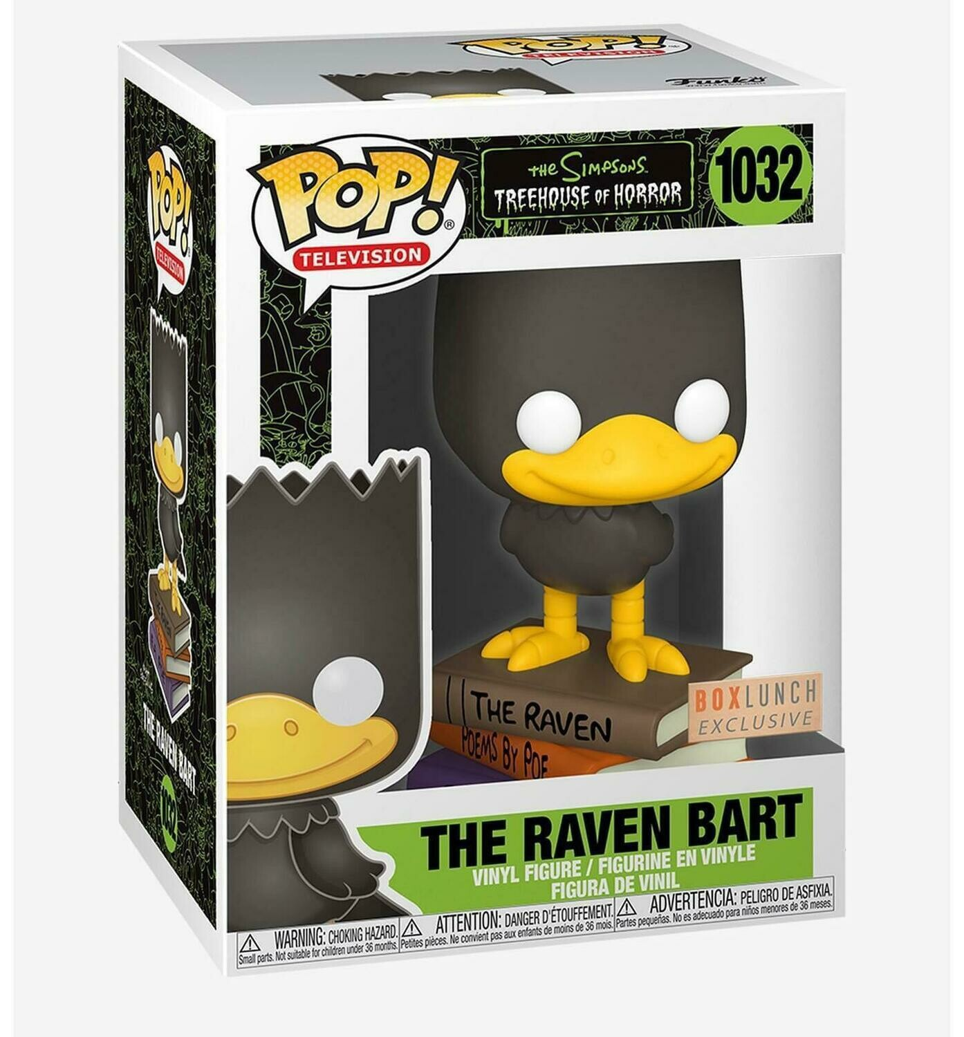 Funko The Simpsons - Bart as The Raven Box Lunch Exclusive Pop! Vinyl Figure