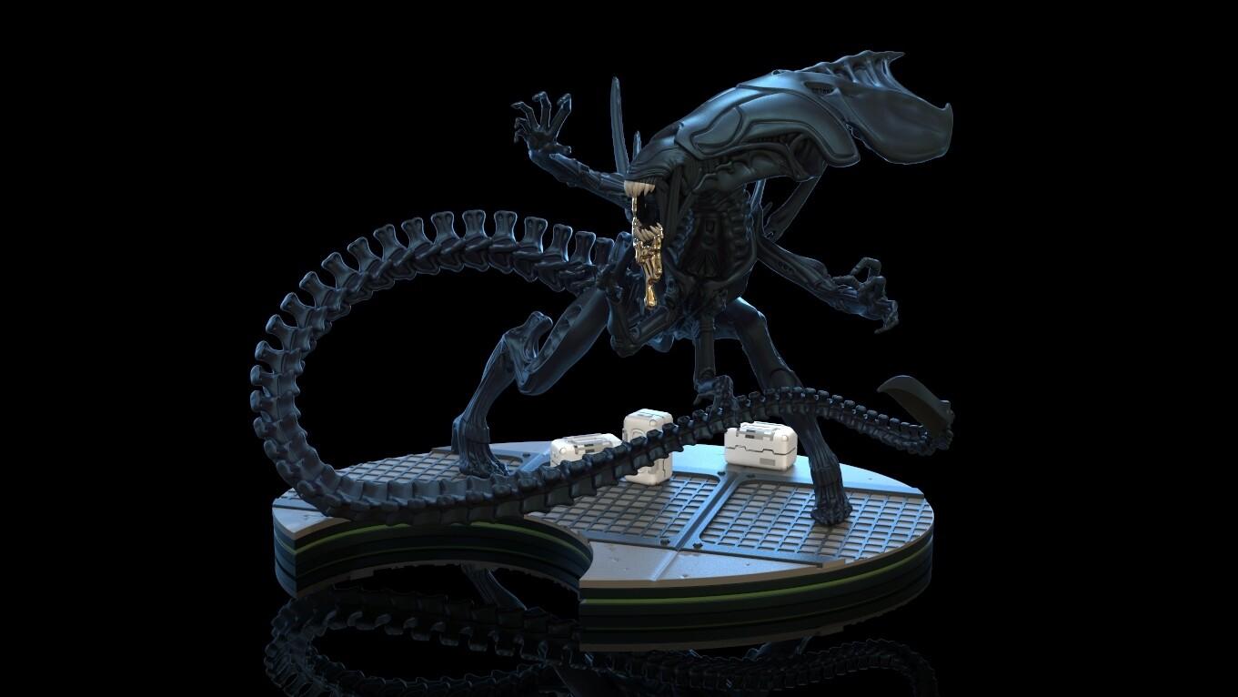 PRE-ORDER QMx Alien Queen Q-Fig Max Elite