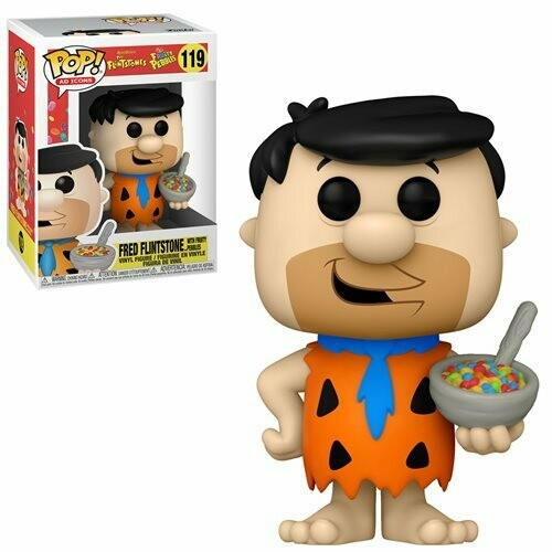 PRE-ORDER Fruity Pebbles Fred Flintstone with Cereal Pop! Vinyl Figure