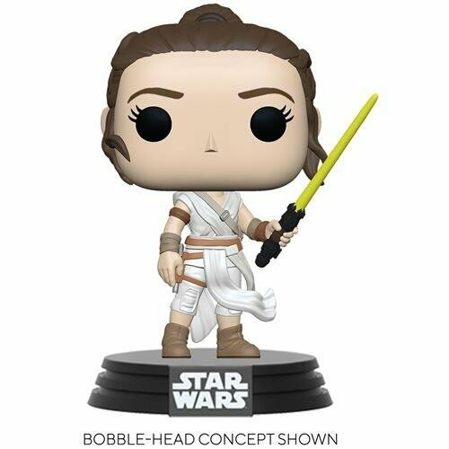 PRE-ORDER Star Wars: The Rise of Skywalker Rey with Yellow Saber Pop! Vinyl Figure - 2nd Batch