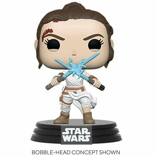 PRE-ORDER Star Wars: The Rise of Skywalker Rey with 2 Light Sabers Pop! Vinyl Figure