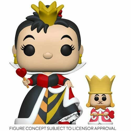 PRE-ORDER Alice in Wonderland 70th Anniversary Queen with King Pop! Vinyl Figure and Buddy