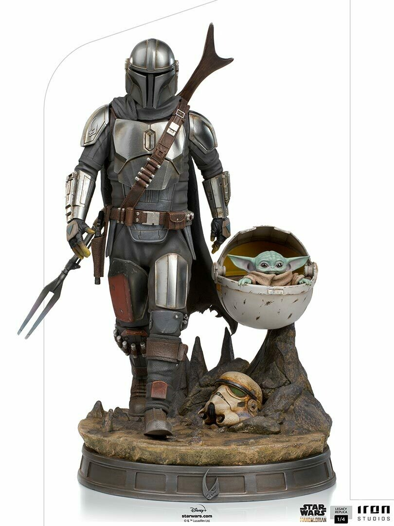 PRE-ORDER Iron Studios The Mandalorian and The Child Legacy Replica 1/4 - The Mandalorian (Store Pick-up Only)