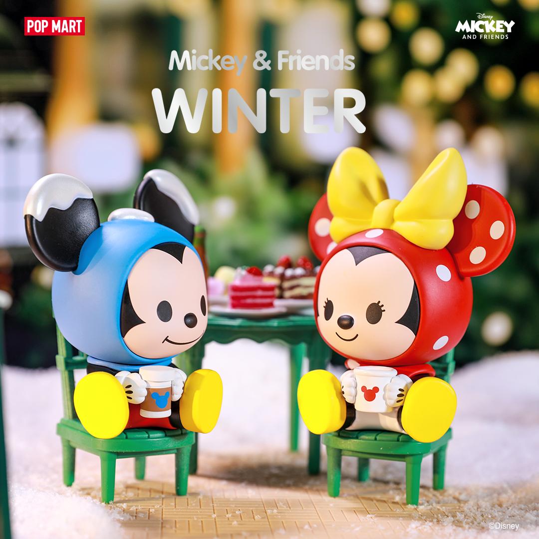 PRE-ORDER Moetech Pop Mart Disney Mickey and Friends Winter Series Blind Box of 12