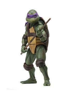 """PRE-ORDER Neca TMNT – 7"""" Scale Action Figure –1990 Movie Donatello (Reproduction 2021)"""