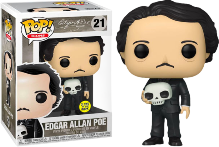 Funko Edgar Allan Poe with Skull Glow in the Dark Exclusive Pop! Vinyl FIgure