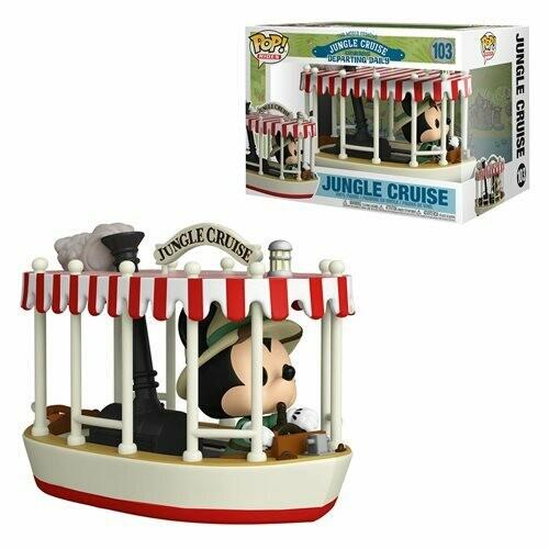 PRE-ORDER Jungle Cruise Skipper Mickey with Boat Pop! Vinyl Vehicle