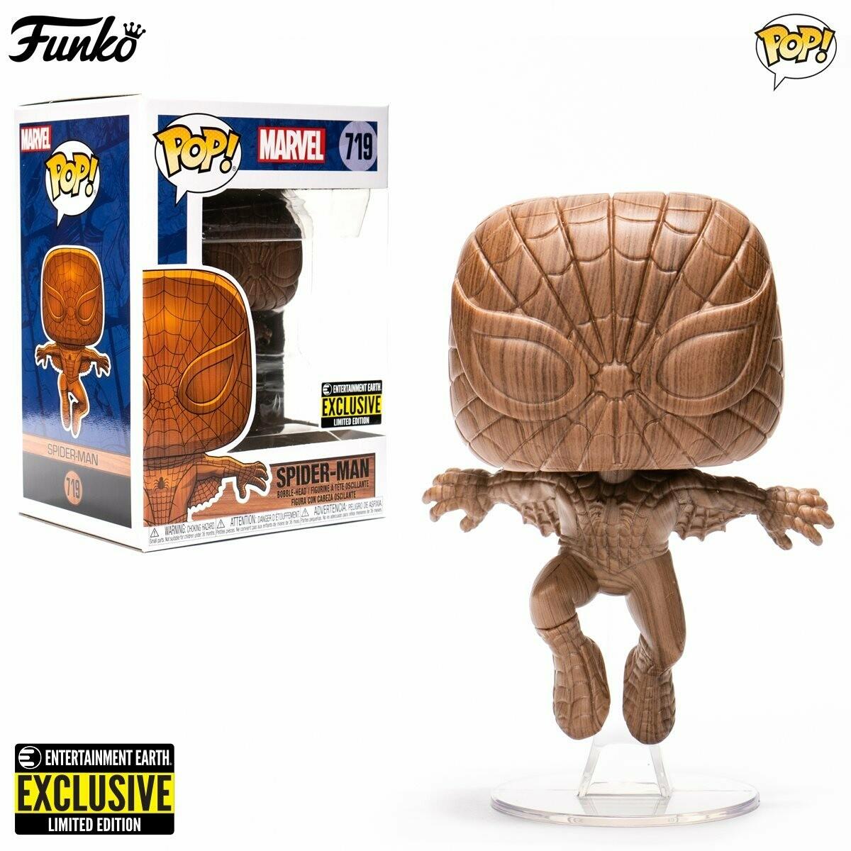 Funko Marvel - Spider-man Wood Deco Entertainment Earth Exclusive Pop! Vinyl Figure