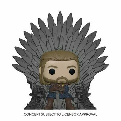 PRE-ORDER Game of Thrones Ned Stark on Throne Deluxe Pop! Vinyl Figure