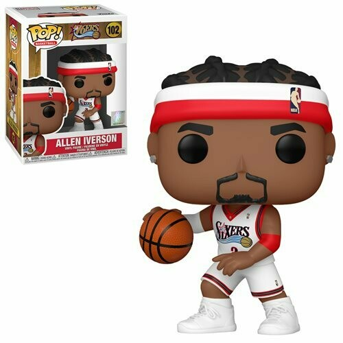 PRE-ORDER NBA: Legends Allen Iverson (Sixers Home) Pop! Vinyl Figure - 2nd Batch
