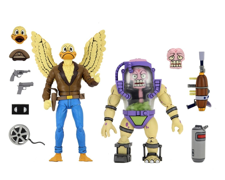 "PRE-ORDER Neca TMNT (Cartoon) - 7"" Scale Action Figures - Ace Duck & Mutagen Man 2 pack"