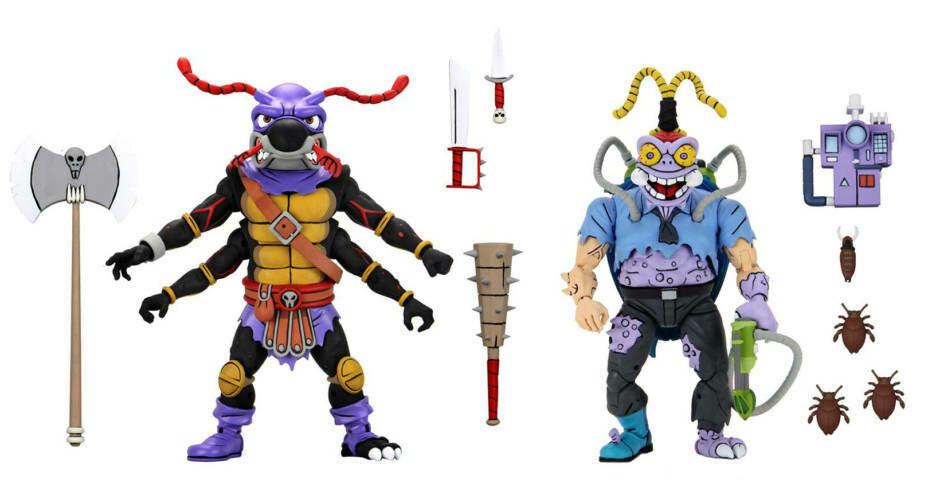 "PRE-ORDER Neca TMNT (Cartoon) 7"" Scale Action Figures Antrax & Scumbug 2 pack"