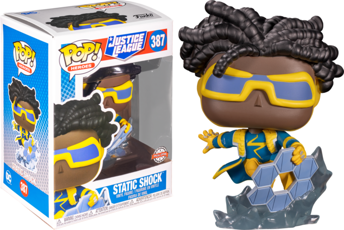 Funko Justice League - Static Shock Exclusive Pop! Vinyl Figure