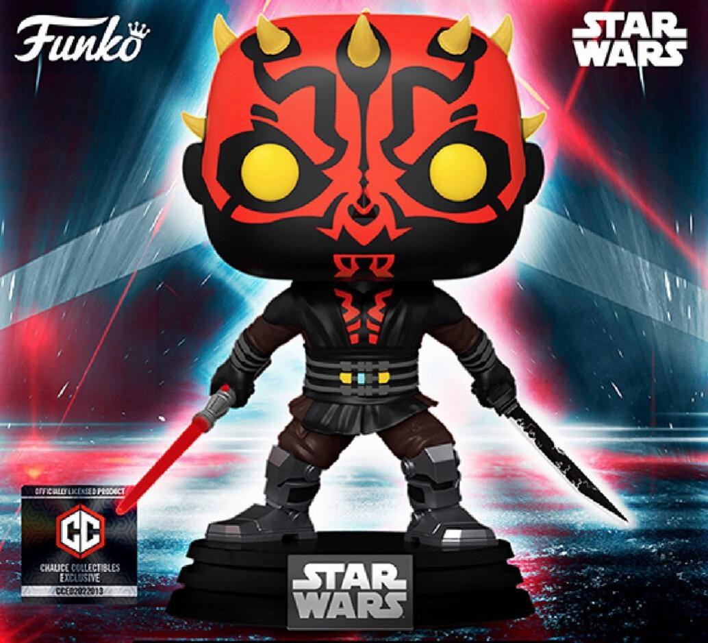 PRE-ORDER Funko Star Wars: Darth Maul Funko Popl #450 Chalice Collectibles Exclusive