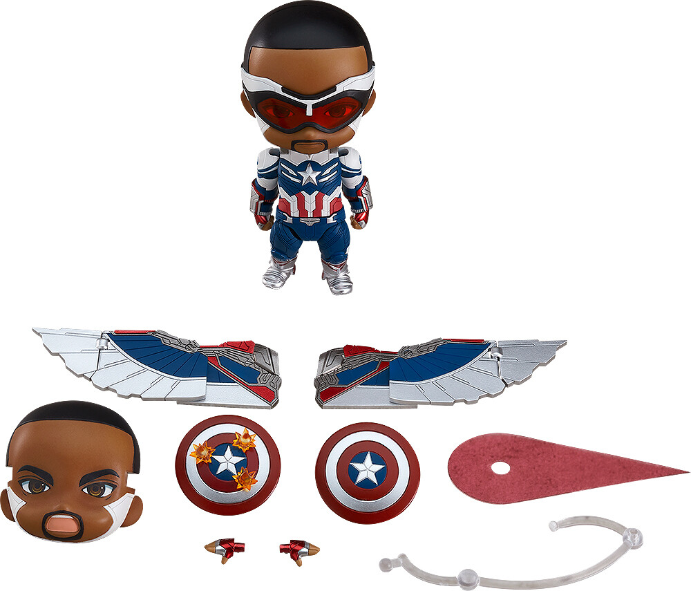 PRE-ORDER Good Smile Nendoroid The Falcon and The Winter Soldier Captain America (Sam Wilson) DX