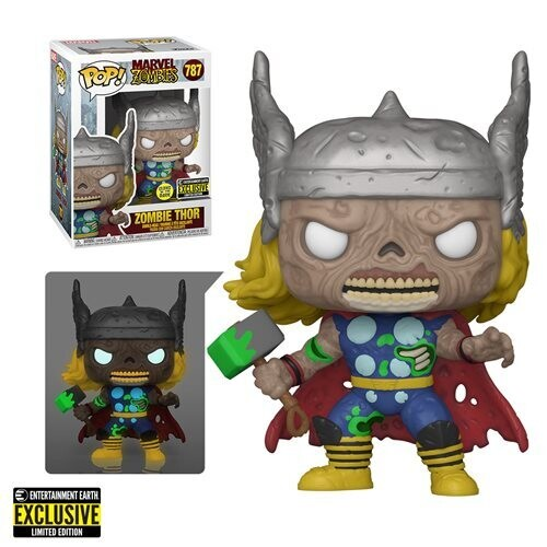 PRE-ORDER Marvel Zombies Thor Glow-in-the-Dark Funko Pop! Figure - Entertainment Earth Exclusive