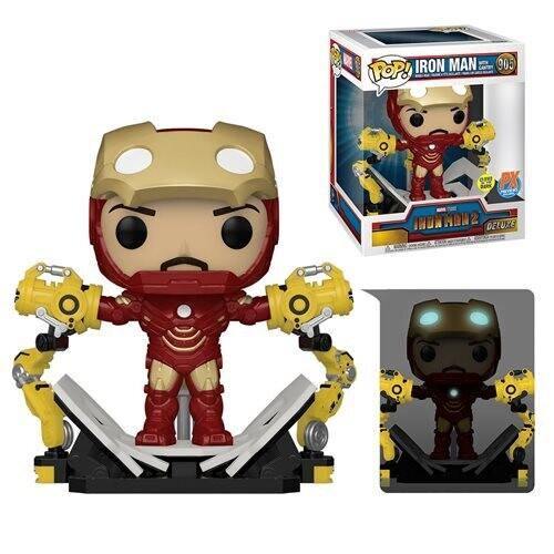 PRE-ORDER Iron Man 2 Iron Man MK IV with Gantry Glow-in-the-Dark 6-Inch Deluxe Pop! Vinyl Figure - Previews Exclusive