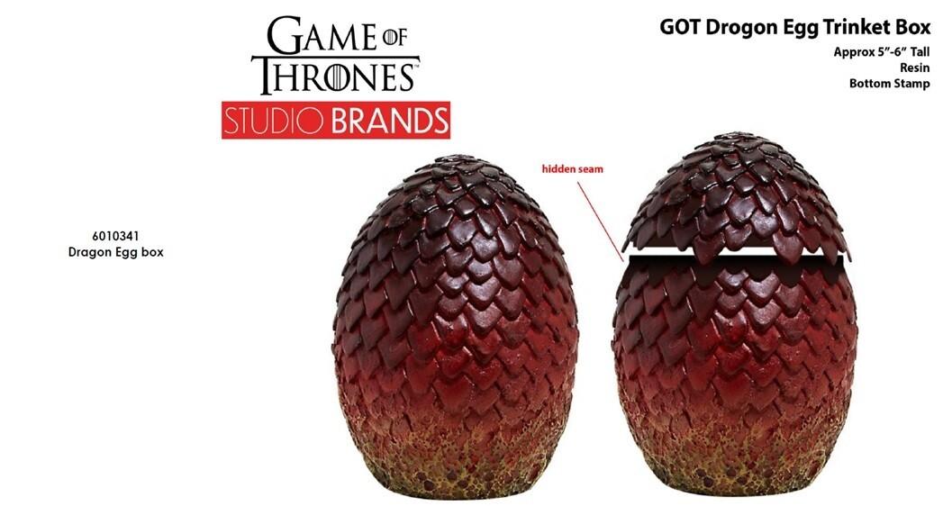 PRE-ORDER Enesco Game Of Thrones - Drogon's Egg Trinket Box