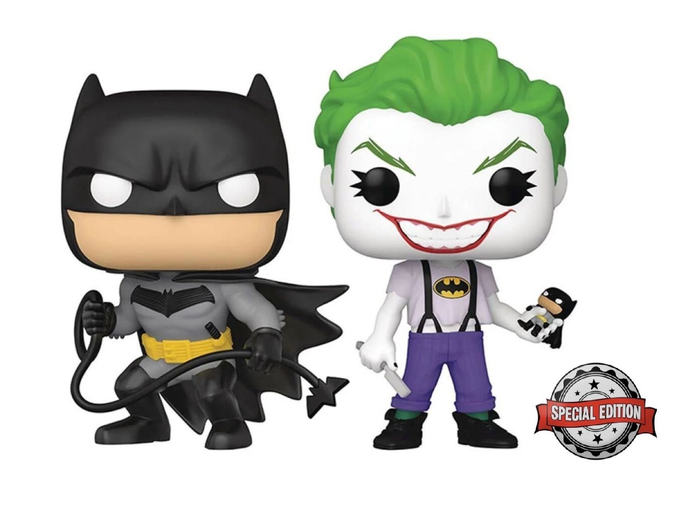 Funko Batman White Knight Batman and Joker Pop! Vinyl Figure 2-Pack - SE Sticker