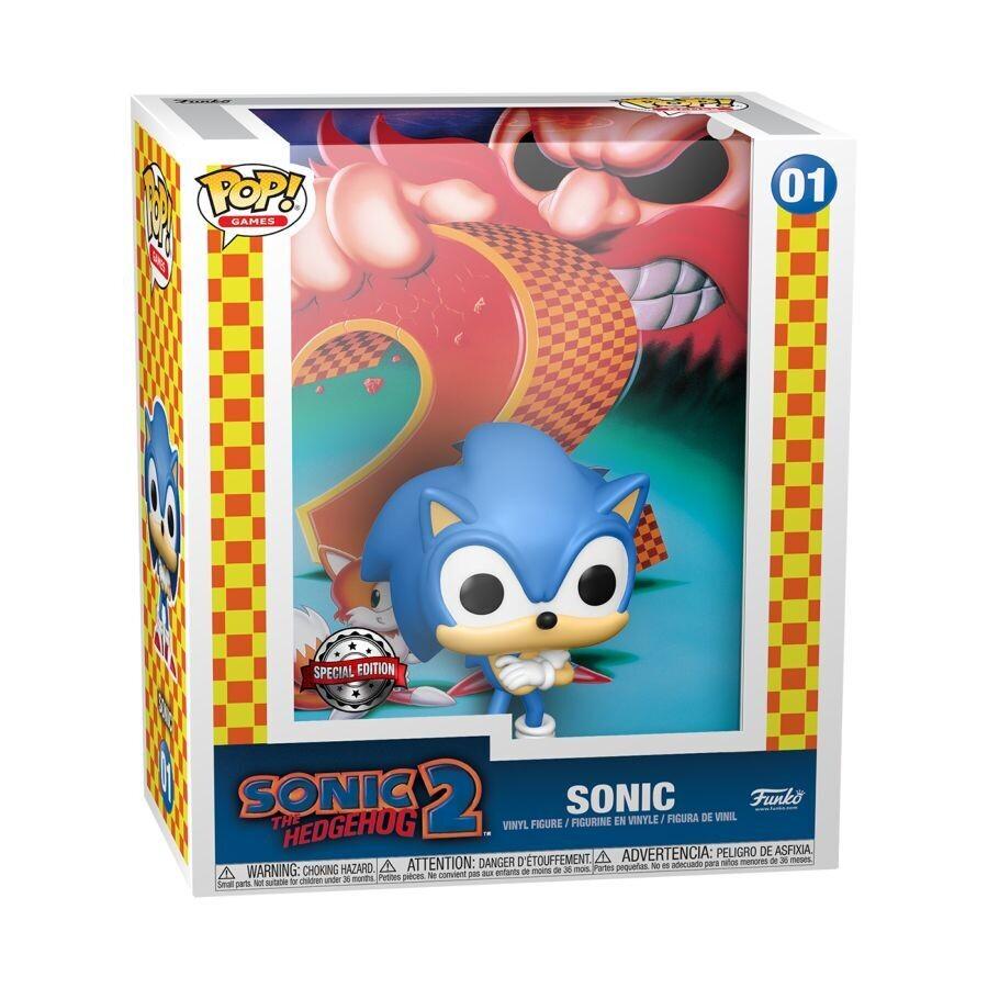 PRE-ORDER Funko Sonic the Hedgehog - Sonic 2 Exclusive Pop! Game Cover - SE Sticker