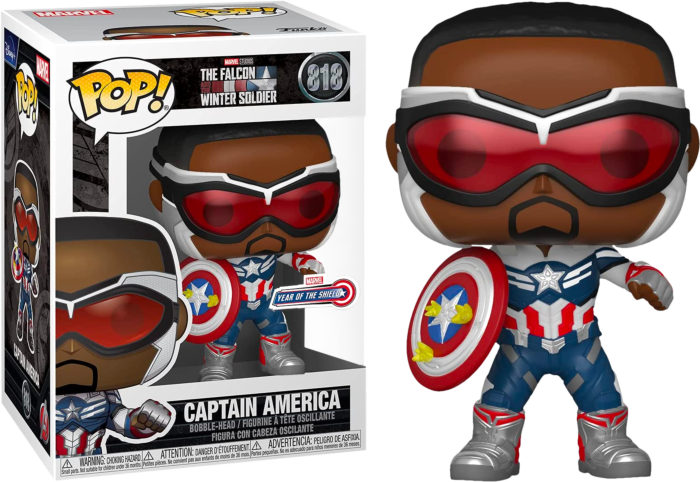 Funko The Falcon and The Winter Soldier - Captain America Year of the Shield Exclusive Pop! Vinyl Figure