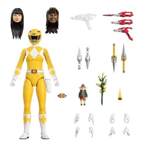 PRE-ORDER Super7 Power Rangers Ultimates Mighty Morphin Yellow Ranger 7 Inch Action Figure