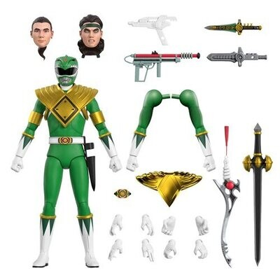 PRE-ORDER Super7 Power Rangers Ultimates Mighty Morphin Green Ranger 7-Inch Action Figure