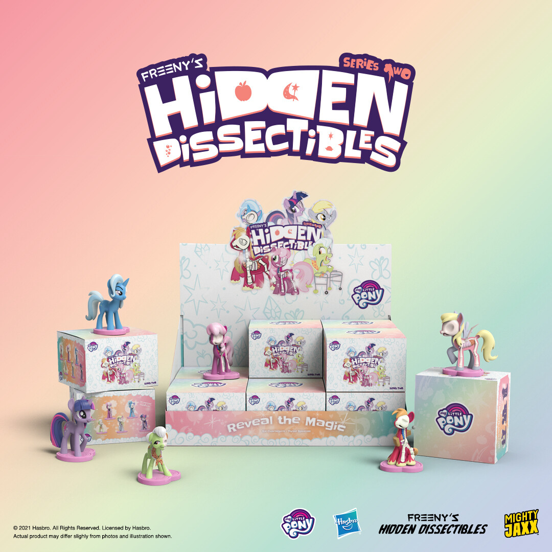 PRE-ORDER Mighty Jaxx Freeny's Hidden Dissectables: My Little Pony Series 2 Blind Box of 12