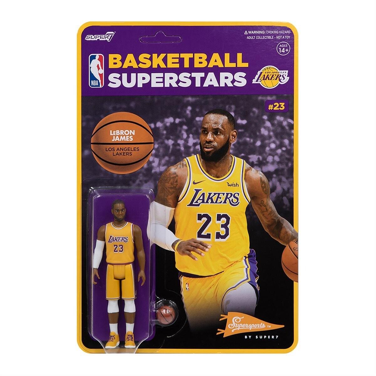 Super7 NBA REACTION FIGURE - LeBron James Los Angles Lakers