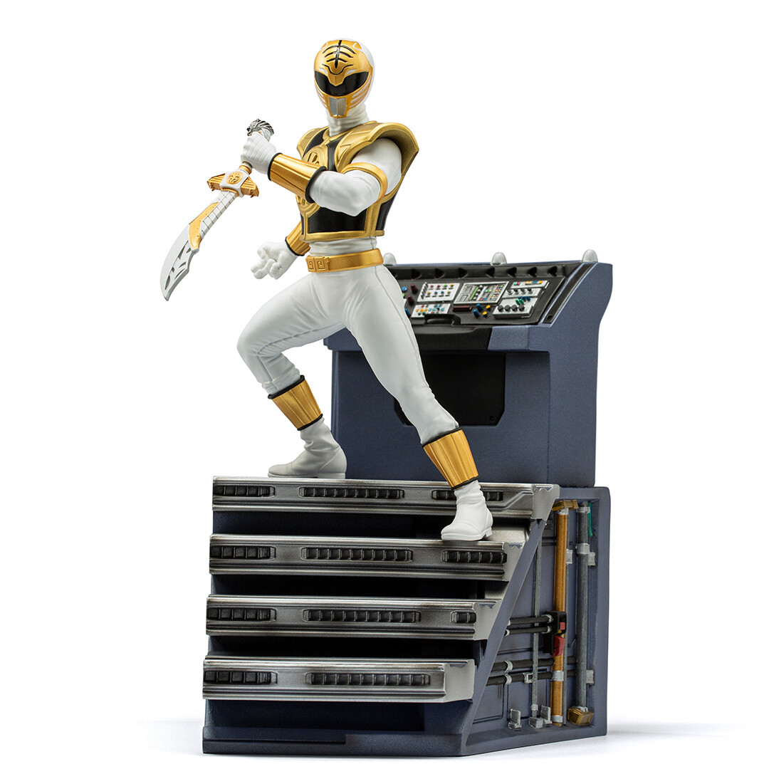 PRE-ORDER Iron Studios White Ranger BDS Art Scale 1/10 - Power Rangers