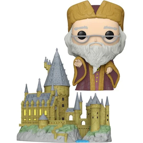 PRE-ORDER Funko Harry Potter and the Sorcerer's Stone 20th Anniversary Dumbledore with Hogwarts Pop! Town