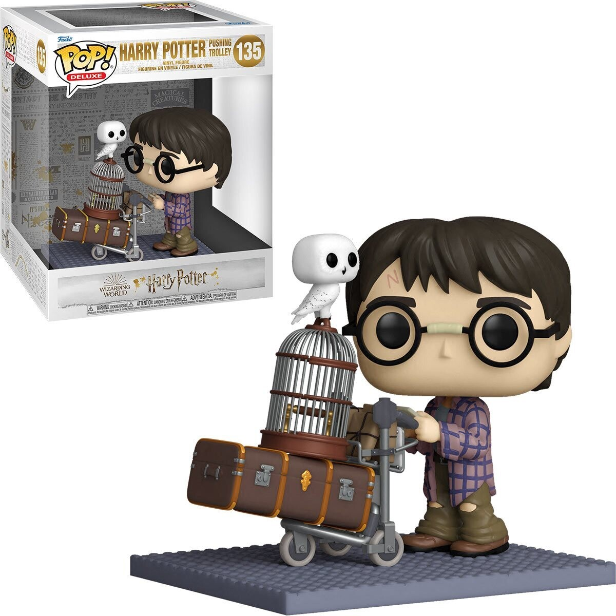PRE-ORDER Funko Harry Potter and the Sorcerer's Stone 20th Anniversary Harry Pushing Trolley Deluxe Pop! Vinyl Figure