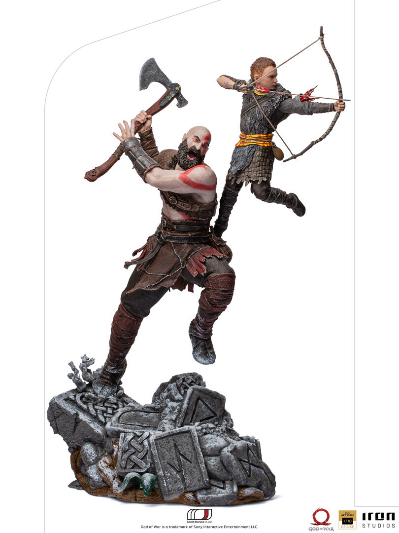 PRE-ORDER Iron Studios Kratos and Atreus BDS Art Scale 1/10 - God of War