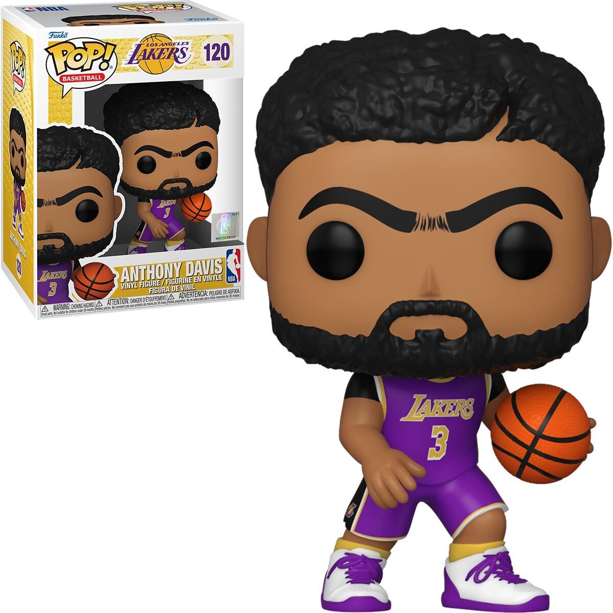 PRE-ORDER Funko NBA Lakers Anthony Davis (Purple Jersey) Pop! Vinyl Figure