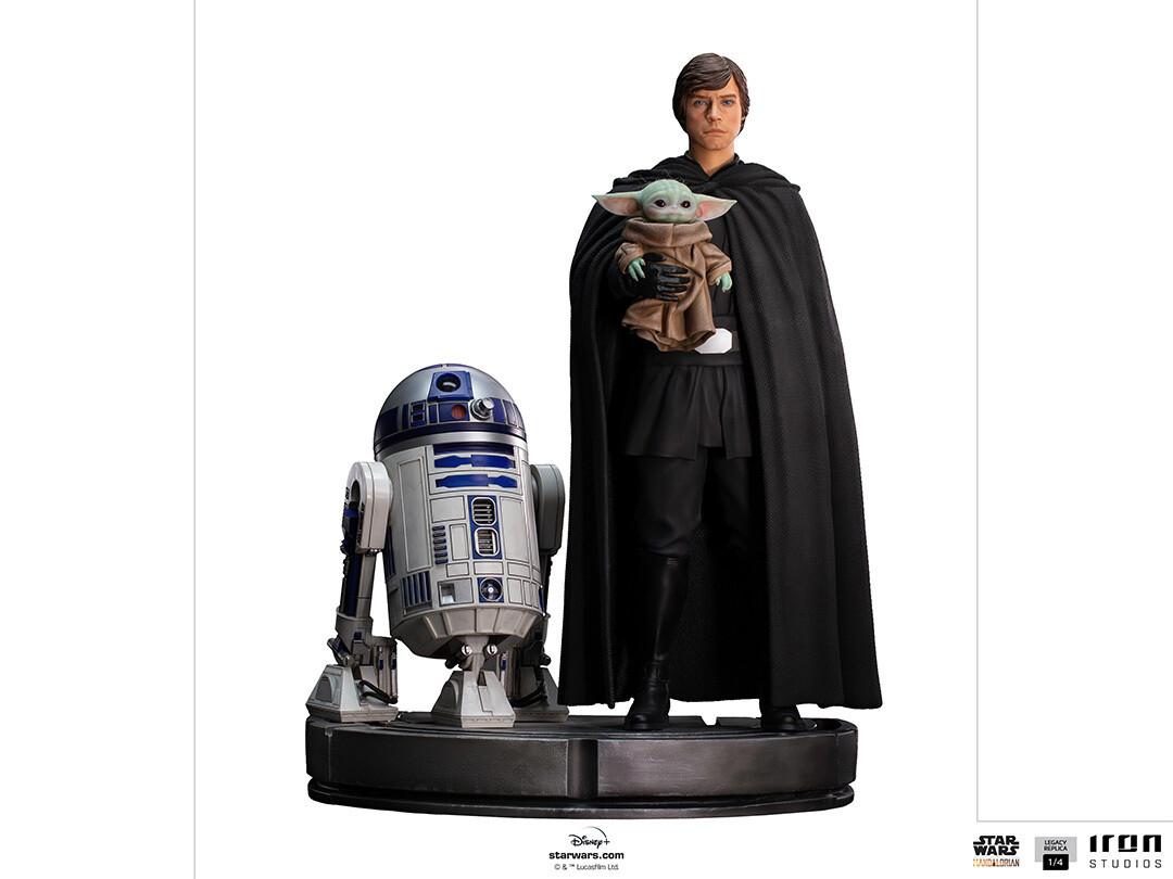 PRE-ORDER Iron Studios Luke Skywalker, R2-D2 and Grogu - Legacy Replica 1/4 - The Mandalorian