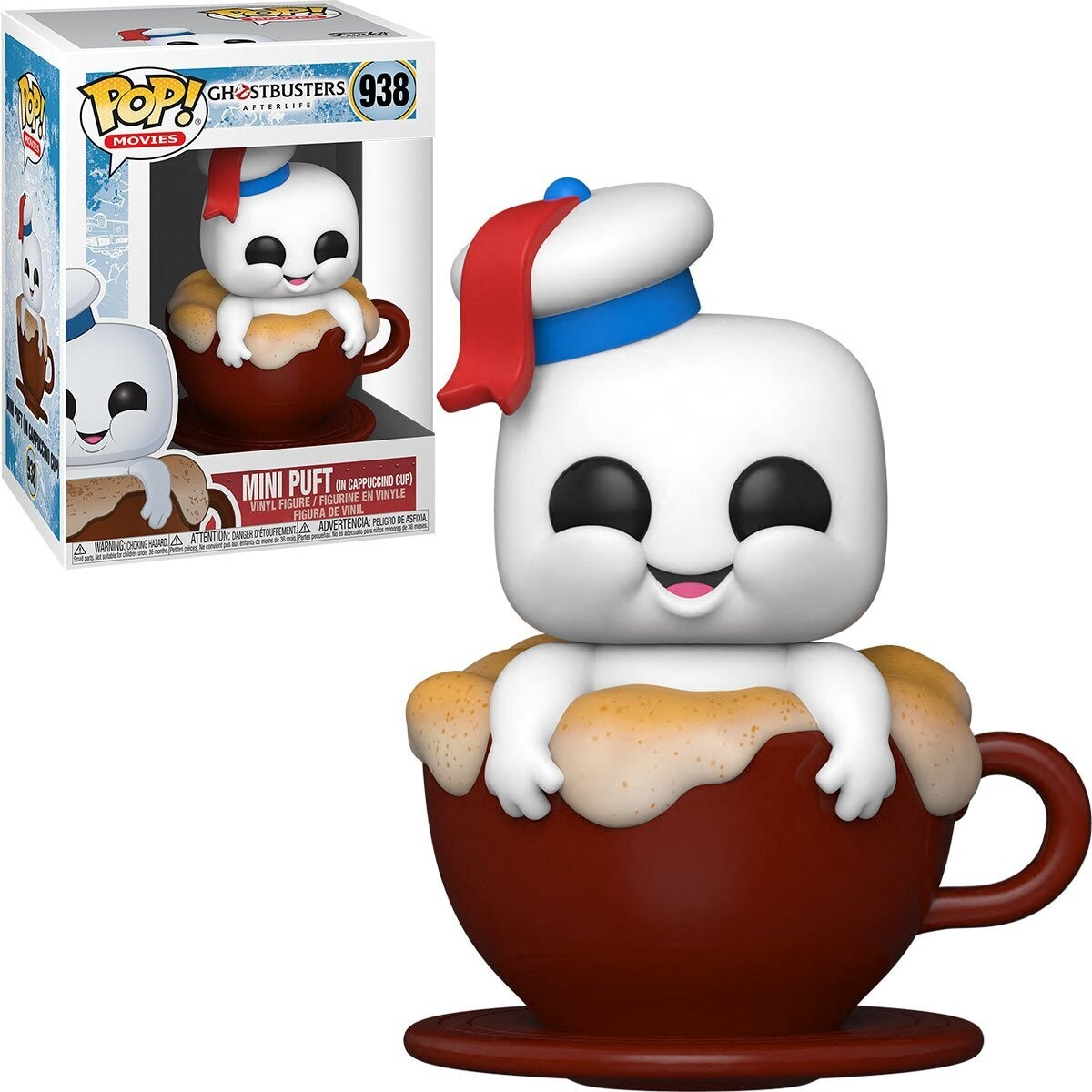 PRE-ORDER Funko Ghostbusters 3: Afterlife Mini Puft in Cappuccino Cup Pop! Vinyl Figure