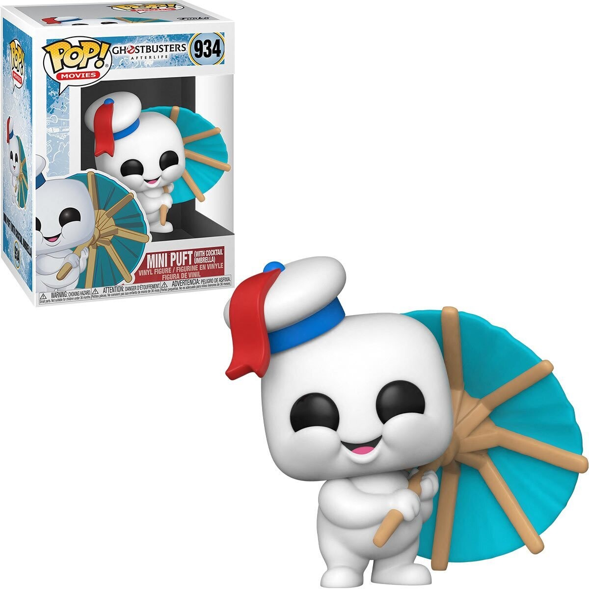 PRE-ORDER Funko Ghostbusters 3: Afterlife Mini Puft with Cocktail Umbrella Pop! Vinyl Figure