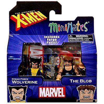 Diamond Select Marvel X-Men Vs. Brotherhood Minimates Series 60 Strike Force Wolverine & The Blob Minifigure 2-Pack