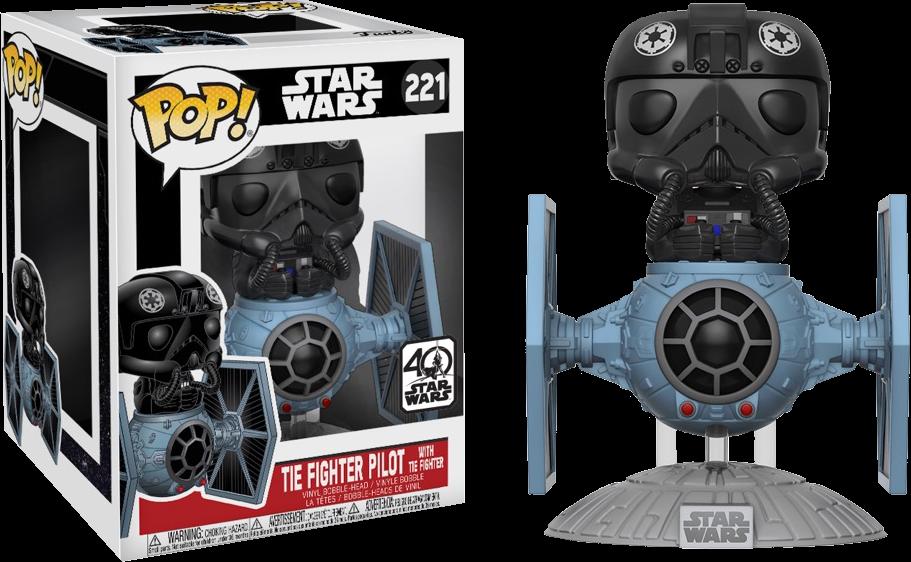 Funko Star Wars - TIE Fighter Pilot with TIE Fighter Deluxe Pop! Vinyl Figure