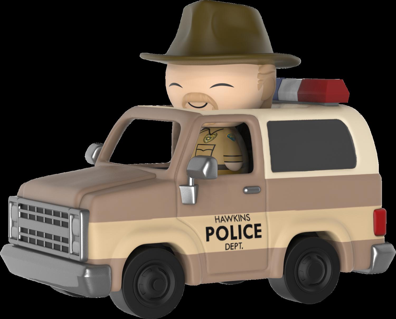 Funko Stranger Things - Hopper in Sheriff Deputy Truck Dorbz Ridez Vinyl Figure